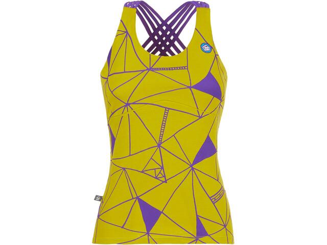 E9 Noa 19 - Camisa sin mangas Mujer - with integrated Bra amarillo